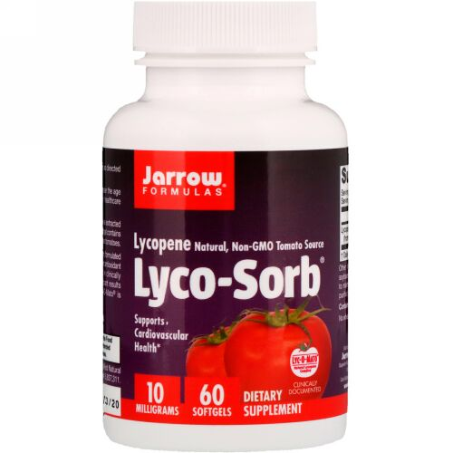 Jarrow Formulas, Lyco-Sorb®(リコソーブ)リコピン、10mg、ソフトジェル60粒