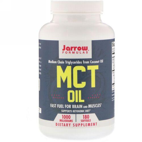 Jarrow Formulas, MCTオイル、1,000mg、ソフトジェル180錠