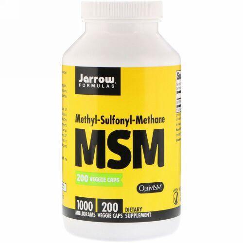 Jarrow Formulas, MSM、1,000 mg、植物性カプセル 200粒