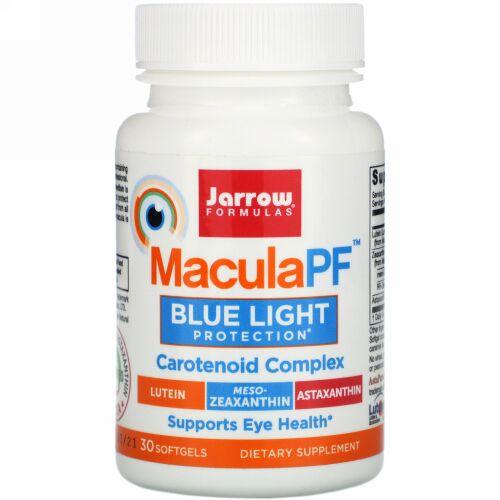 Jarrow Formulas, MaculaPF, Blue Light Protection, 30 Softgels