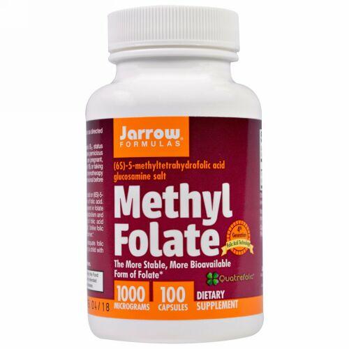 Jarrow Formulas, Methyl Folate, 1,000 mcg, 100 Capsules