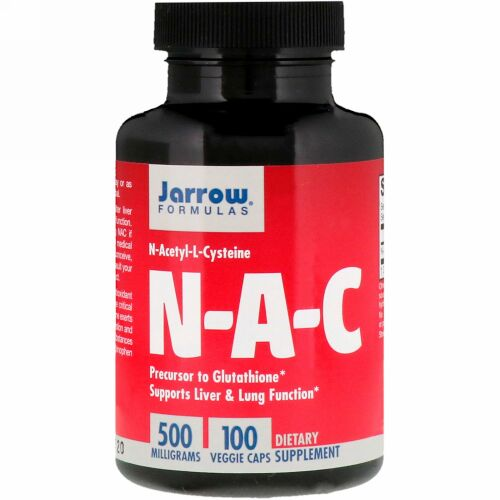 Jarrow Formulas, N-A-C N-アセチル-L-システイン、500mg、ベジカプセル100粒