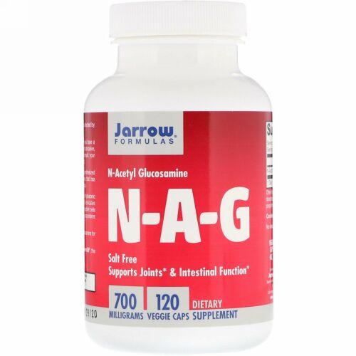 Jarrow Formulas, N-A-G, 700 mg, 120粒(ベジタリアンカプセル)