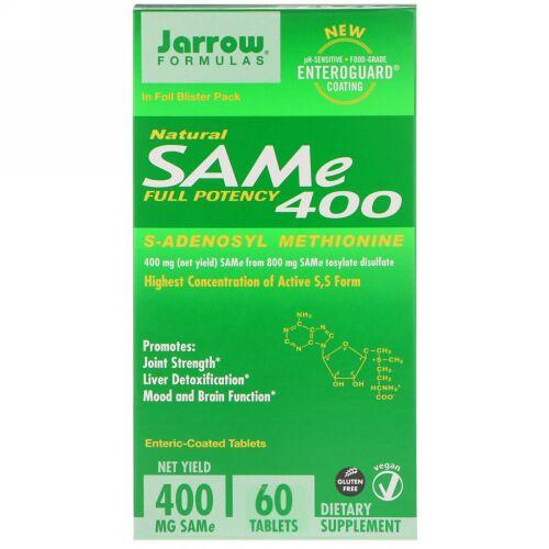 Jarrow Formulas, SAM-e (S-Adenosyl-L-Methionine) 400、タブレット60個
