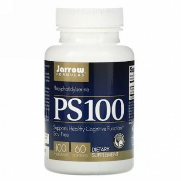 Jarrow Formulas, PS 100, ホスファチジルセリン, 100 mg, 60 ソフトジェル
