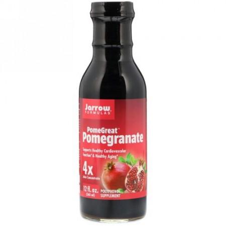 Jarrow Formulas, ポメグレート, ザクロ, 4x 濃縮果汁, 12 液量オンス (360 ml)