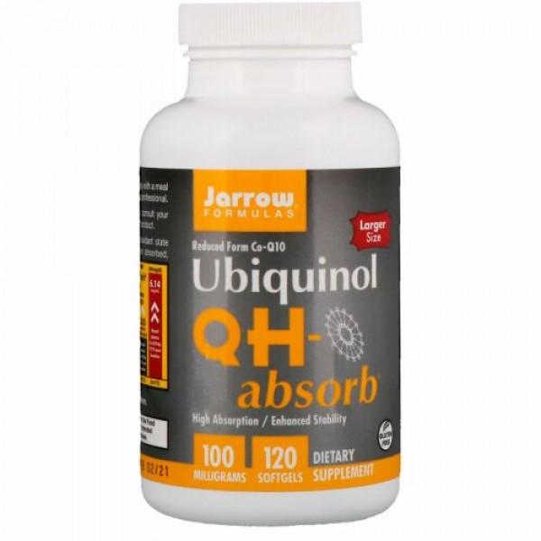 Jarrow Formulas,  Ubiquinol(ユビキノール)、QH-Absorb(QH-アブソーブ)、100mg、ソフトジェル120粒