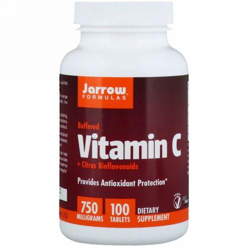 Jarrow Formulas, 緩衝ビタミンC + シトラス・バイオフラボノイド、750 mg、100錠