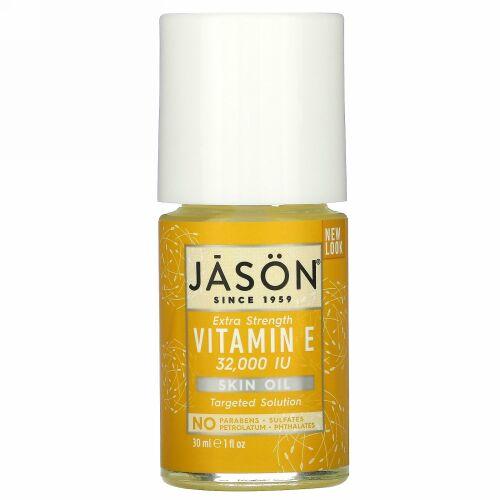 Jason Natural, エクストラ・ストレングス・ビタミンEスキンオイル, 32,000 I.U., 1 fl oz (30 ml)