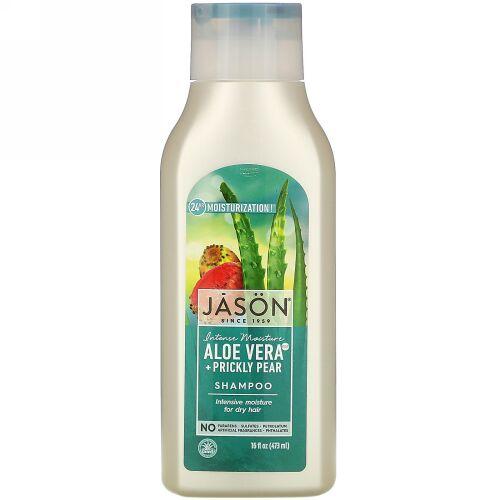 Jason Natural, Intensive Moisture Shampoo, Aloe Vera + Prickly Pear, 16 fl oz (473 ml)