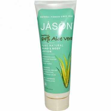 Jason Natural, Pure Natural Hand & Body Lotion, Soothing Aloe Vera, 8 oz (227 g)