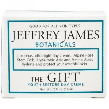 Jeffrey James Botanicals, ザ・ギフト、若返るデイクリーム、 2.0 oz (59 ml) (Discontinued Item)