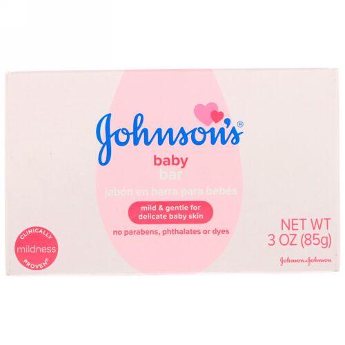 Johnson & Johnson, 赤ちゃんの固形せっけん, 3 oz (85 g)