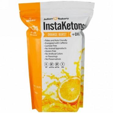 Julian Bakery, InstaKetones、オレンジバースト + カフェイン、1.16 lbs (525 g) (Discontinued Item)