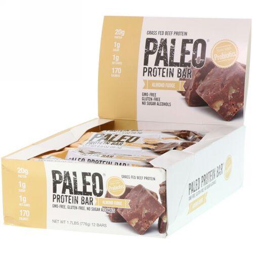 Julian Bakery, PALEO Protein Bar, Almond Fudge, 12 Bars, 2.0 oz (56.3 g) Each