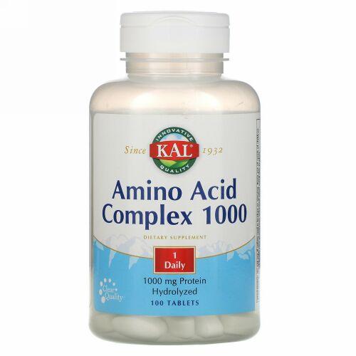 KAL, Amino Acid Complex 1000, 1000 mg, 100 Tablets