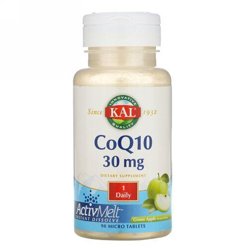 KAL, CoQ10, Green Apple, 30 mg, 90 Micro Tablets (Discontinued Item)