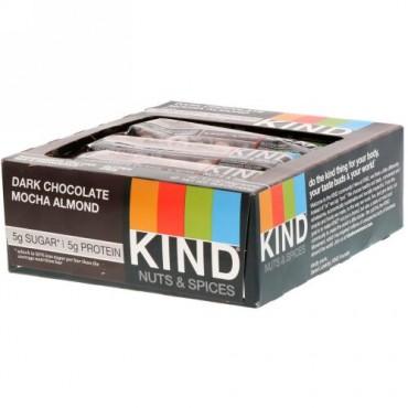 KIND Bars, ナッツとスパイス、ダークチョコレートモカアーモンド、12本、各1.4oz(40g)