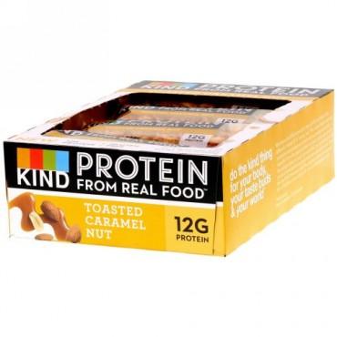 KIND Bars, プロテインバー、トーストキャラメルナッツ、12本、各1.76 oz (50 g)