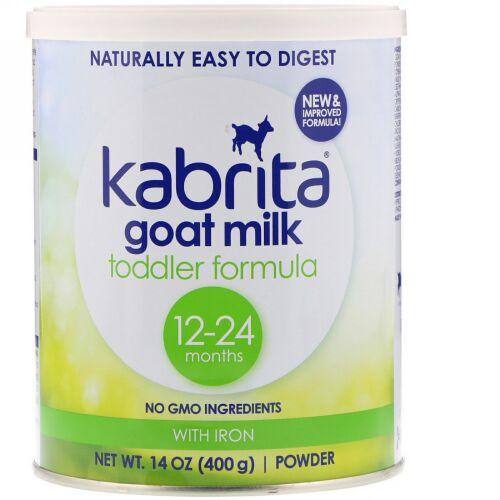 Kabrita, ゴートミルク 幼児向けフォーミュラ、鉄入り、14 oz (400 g) パウダー (Discontinued Item)