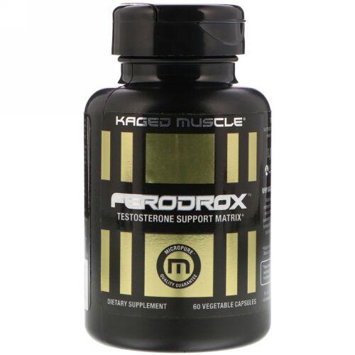 Kaged Muscle, Ferodroxテストステロン・サポート・マトリックス、植物性カプセル60粒