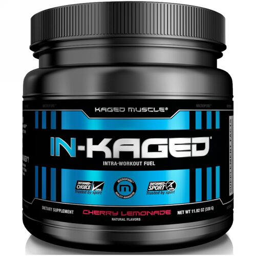 Kaged Muscle, IN-KAGED, Intra-Workout Fuel, Cherry Lemonade, 11.92 oz (338 g)