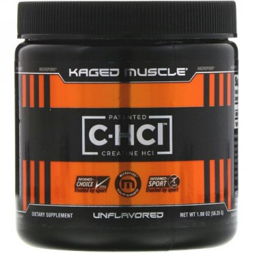 Kaged Muscle, 特許取得済みC-HCl、クレアチンHCl、味付けなし、1.98オンス(56.25g)