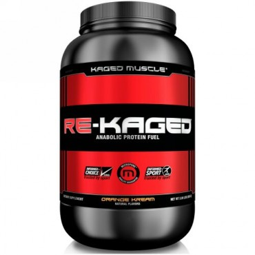 Kaged Muscle, Re-Kaged、タンパク同化栄養補給、オレンジクリーム、2.06ポンド (936 g)