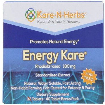 Kare n Herbs, エネルギーケア、40錠 (Discontinued Item)