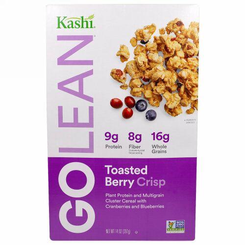 Kashi, GoLean Crisp!、天然の甘みのマルチグレイン・クラスター・シリアル、トースト・ベリー・クランブル、14オンス(397 g)