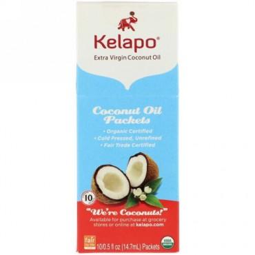 Kelapo, ココナッツオイルパケット、10パケット、各0.5 fl oz (14.7 ml) (Discontinued Item)