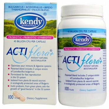 Kendy USA, Actiflora、強力で自然なバイオスティミュレーター、Vキャップ100錠 (Discontinued Item)