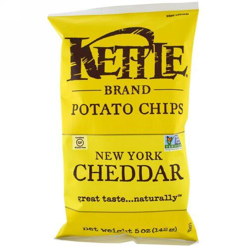 Kettle Foods, ポテトチップス、ニューヨーク・ チェダーチーズ (142 g)