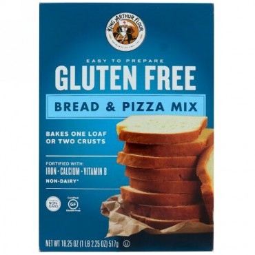 King Arthur Flour, グルテンフリー、パン・ピザのミックス、18.25 oz (517 g) (Discontinued Item)