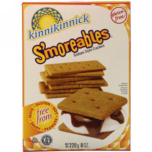Kinnikinnick Foods, スモラブルズ(S'moreables)、グラハムスタイルクラッカー、8 oz (220 g) (Discontinued Item)