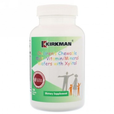 Kirkman Labs, Childrens Chewable Multi-Vitamin/Mineral Wafers with Xylitol, 120 Chewable Wafers (Discontinued Item)