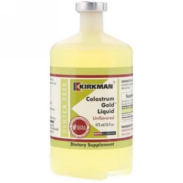 Kirkman Labs, コロストラム ゴールド リキッド、味なし、16 fl oz (473 ml) (Discontinued Item)