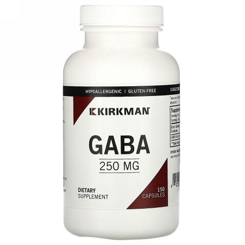 Kirkman Labs, GABA、250mg、カプセル150粒