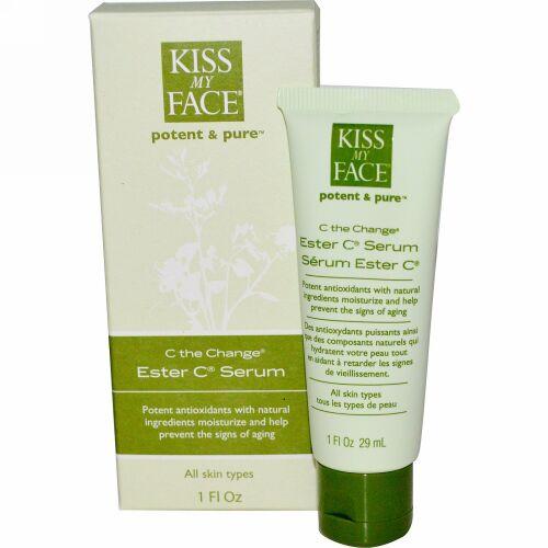 Kiss My Face, C The Change®(C チェンジ)、Ester C®(エステル C)セラム、1 液量オンス (29 ml) (Discontinued Item)