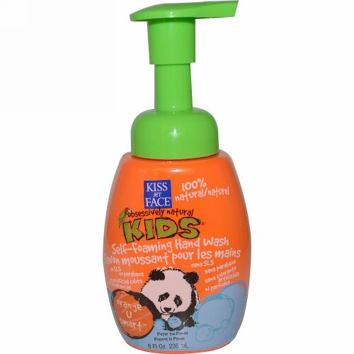 Kiss My Face, ひたすらナチュラル キッズ、泡が出るハンドウォッシュ、Orange U Smart™(オレンジ U スマート)、8 液量オンス (236 ml) (Discontinued Item)