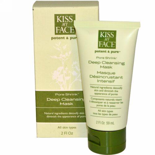 Kiss My Face, 強力&ピュア、 毛穴の収縮、 ディープクレンジングマスク、 2液量オンス (59 ml) (Discontinued Item)