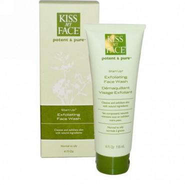Kiss My Face, スタートアップ、 エクスフォリエーティングフェイスウォッシュ、 4液量オンス (118 ml) (Discontinued Item)