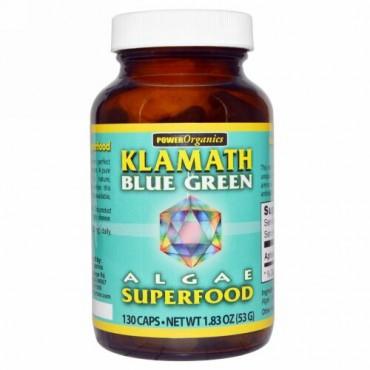 Klamath, パワーオーガニック, 藻類スーパーフード, クラマスブルーグリーン, 130 カプセル (Discontinued Item)