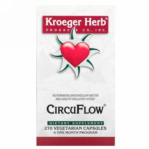 Kroeger Herb Co, CircuFlow, 270 Vegetarian Capsules