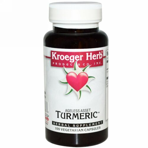 Kroeger Herb Co, Turmeric, 100 Vegetarian Capsules