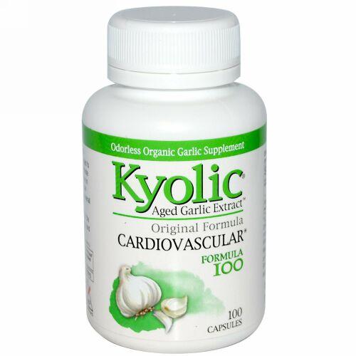 Kyolic, Aged Garlic Extract(熟成ニンニク抽出液)、心血管、フォーミュラ、100粒