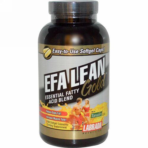 Labrada Nutrition, EFAリーンゴールド、 必須脂肪酸ブレンド、 180ソフトジェルカプセル (Discontinued Item)