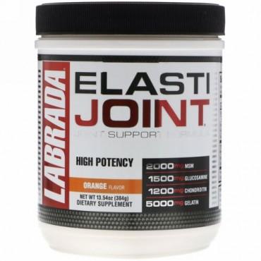 Labrada Nutrition, ElastiJoint、関節サポート処方、オレンジ味、13.54 oz (384 g)