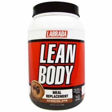 Labrada Nutrition, 締まった肉体, ミールリプレイスメント(食事の代替物), チョコレート, 2.47ポンド(1,120 g)