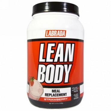 Labrada Nutrition, リーンボディ、食事代用、ストロベリー、2.47 lb (1120 g)